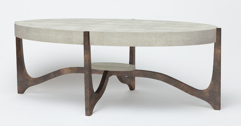 Dexter Coffee Table Sand and Bronze Shagreen