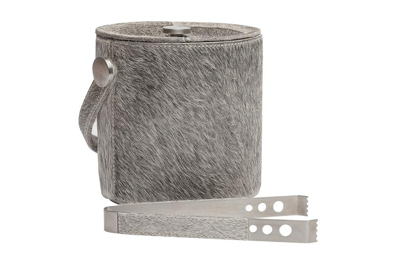 Browmley Ice Bucket/Tongs-Gray