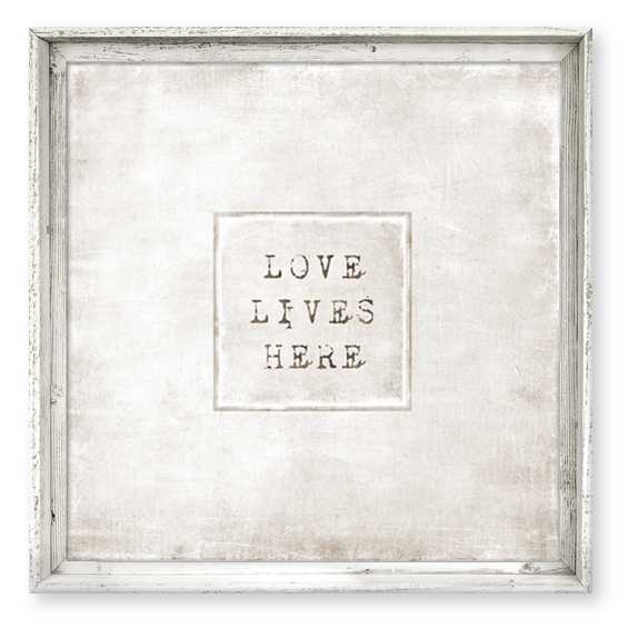 Love Lives Here Canvas Art