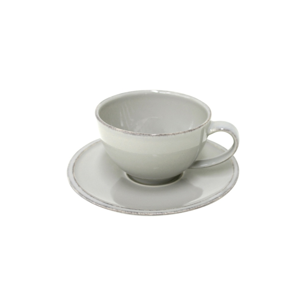 Friso Grey Tea Cup with Saucer
