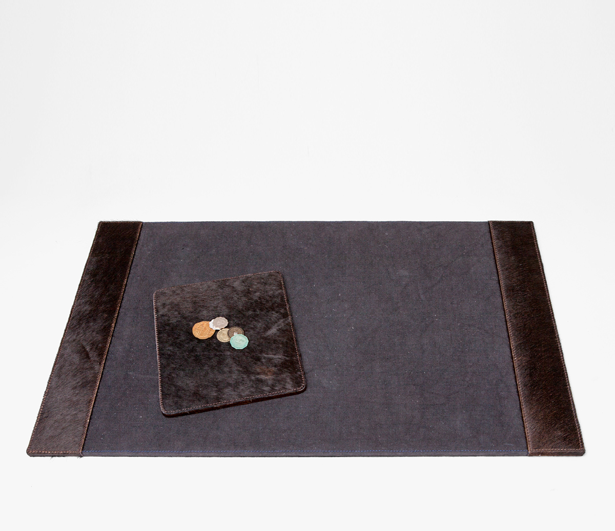 Hyde Dark Brown Desk Blotter and Mouse Pad