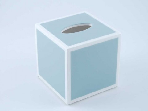 Cool Grey and White Tissue Box Cover