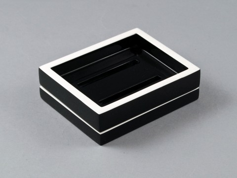 Black and White Soap Dish