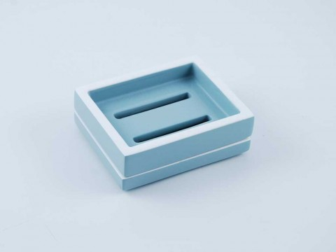 Cool Grey with White Soap Dish