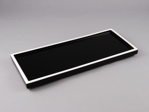 Black and White Long Vanity Tray