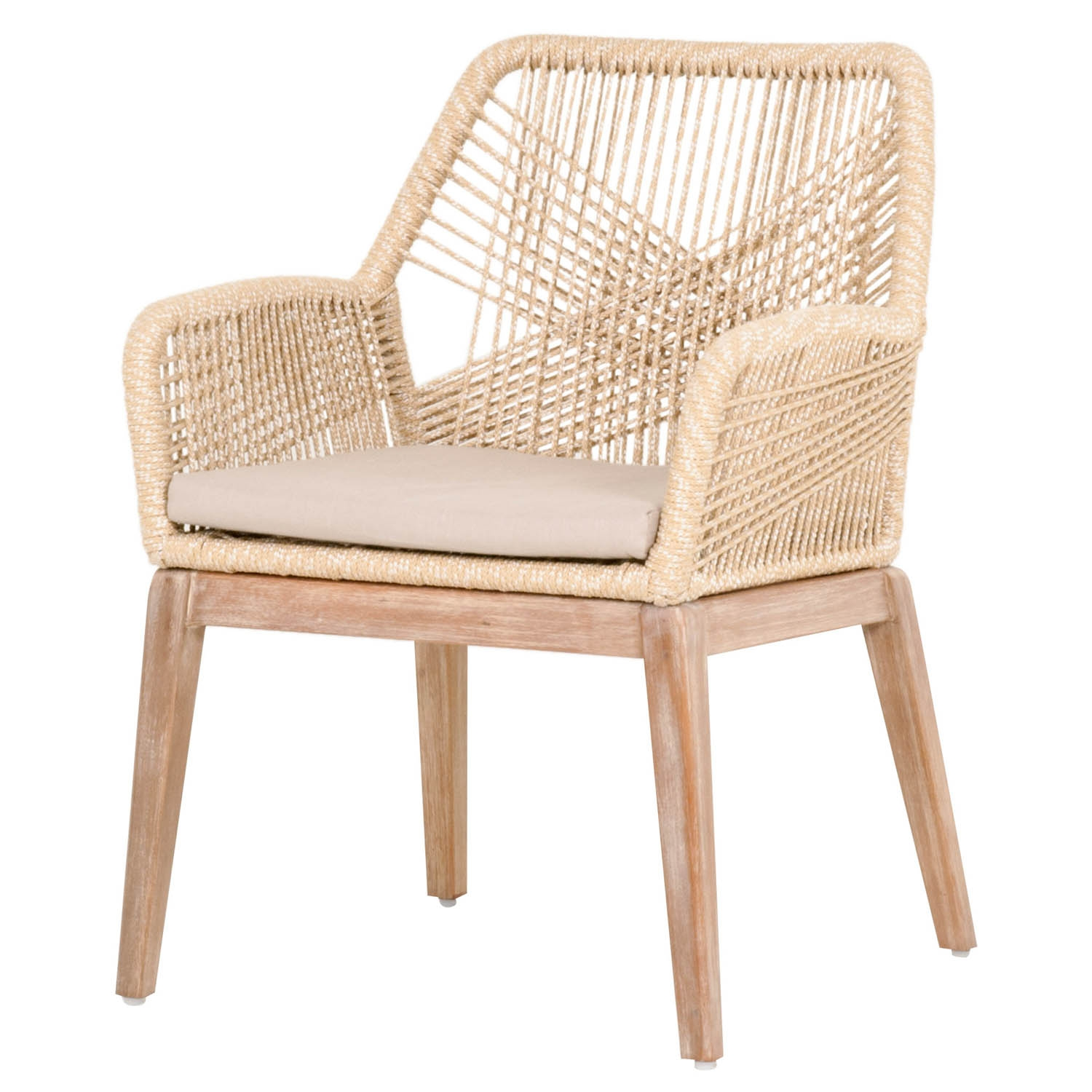 Weave Sand Rope Arm Chair (Set of 2)