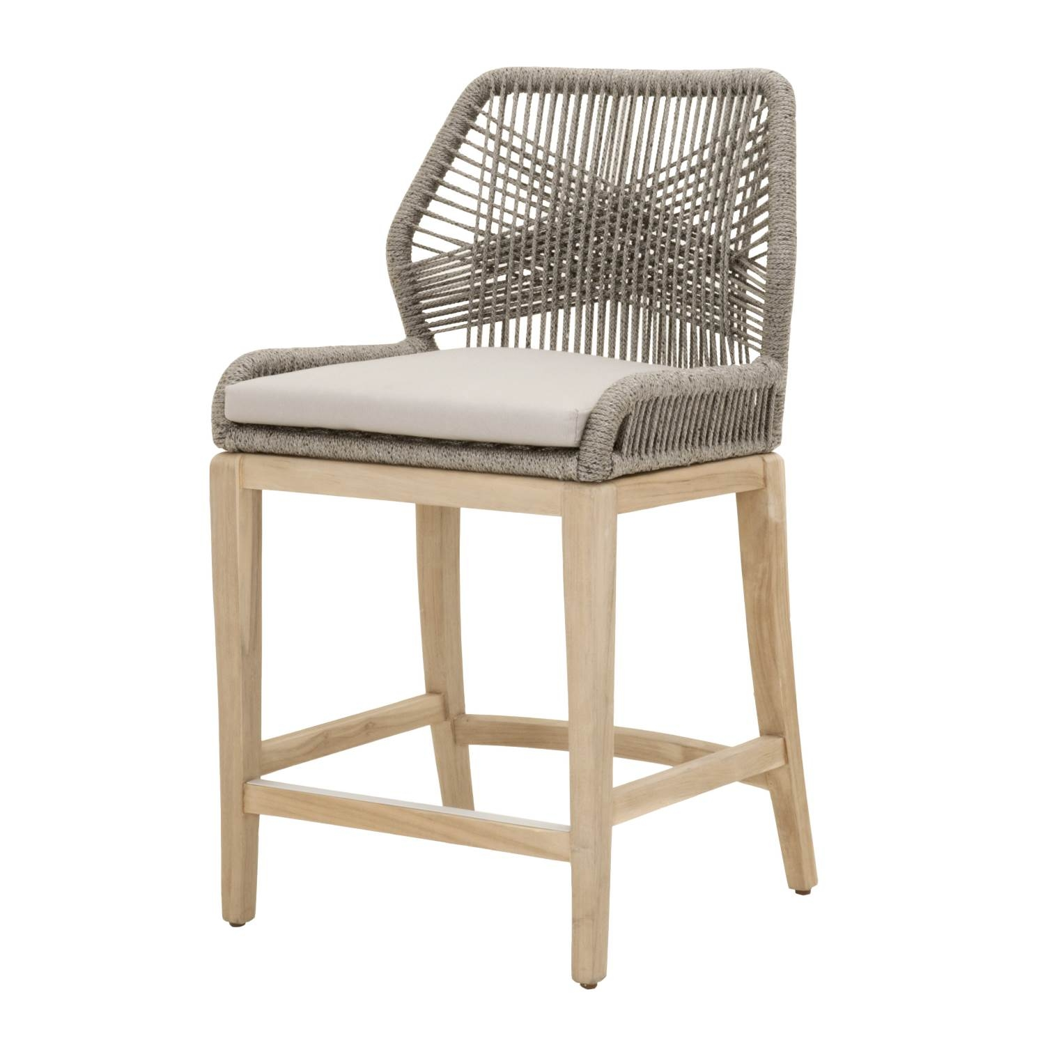 Weave Platinum Rope Outdoor Counter Stool