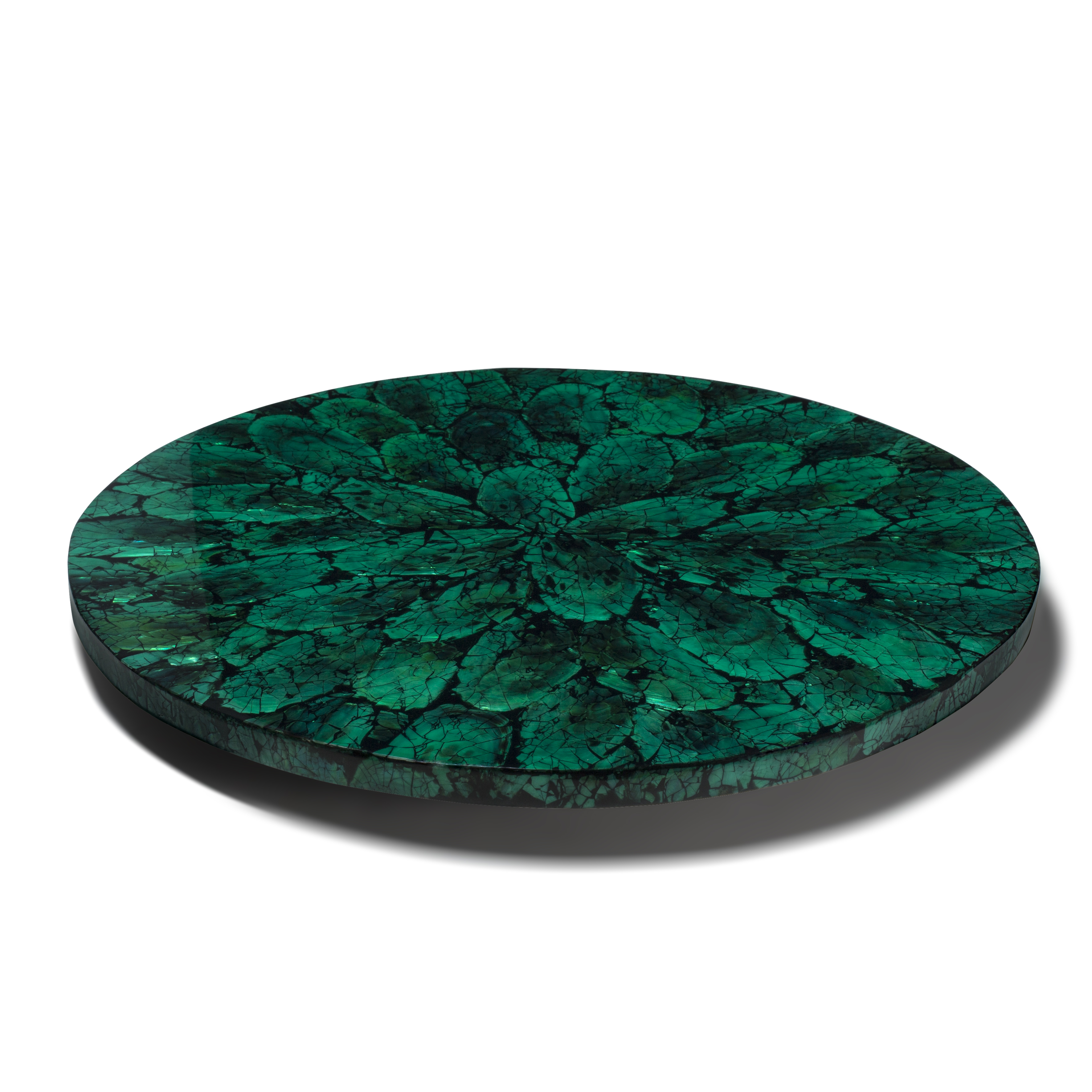 Mother of Pearl - Green Revolving Tray