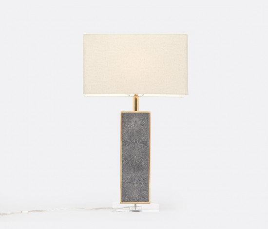 Kingston Lamp Gray Faux Shagreen