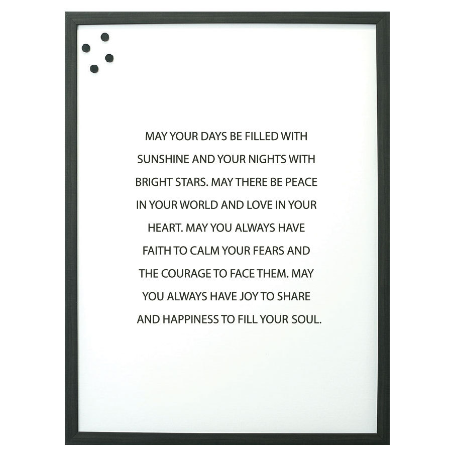 May Your Days Magnet Board