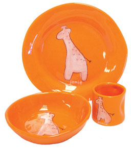 Giraffe Dish Set for Kids