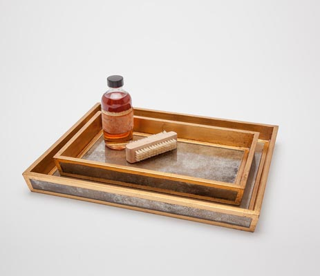 Atwater Nesting Trays - Antique Gold (Set of 2)