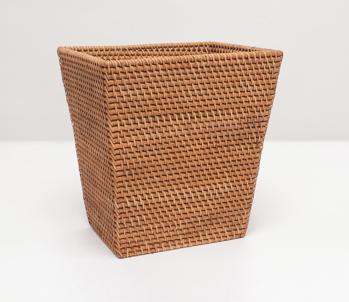 Dalton Rectangle Wastebasket - Brown Rattan