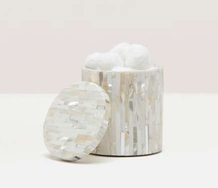 Cortona Silver and Shell Canister