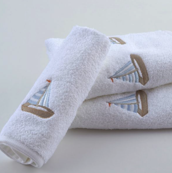 Sailboat Bath Towels