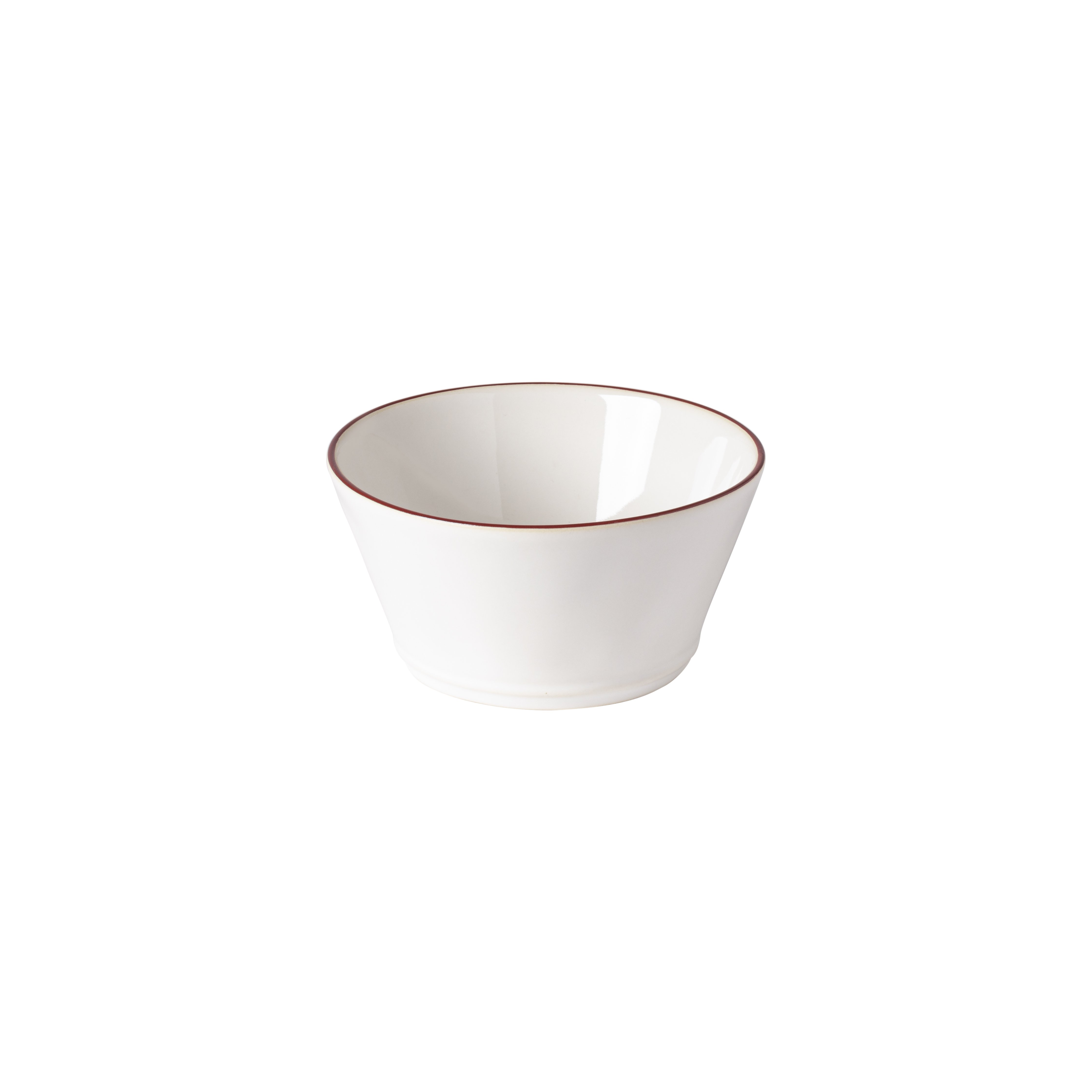 Beja Red And White Cereal Bowls Dinnerware