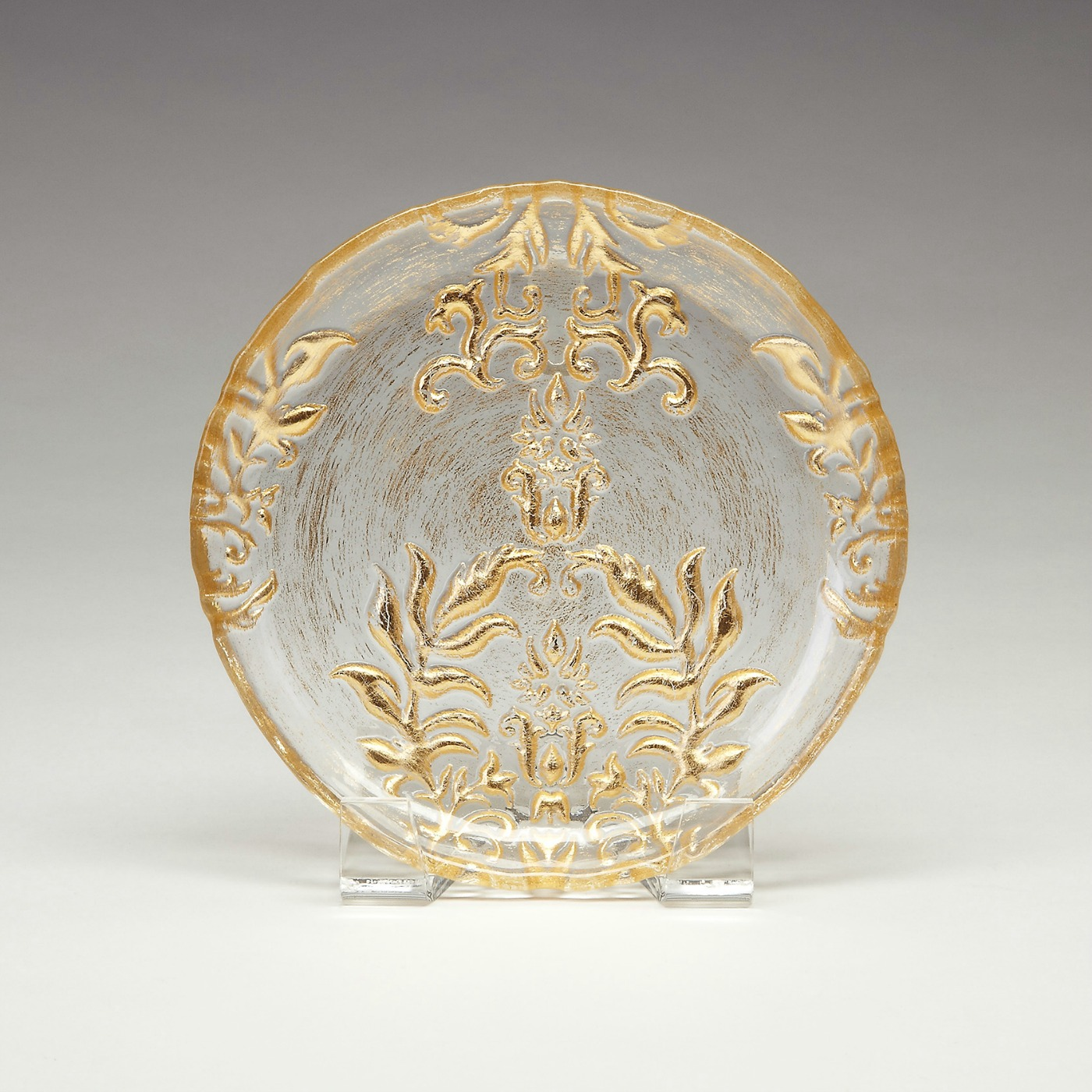 Damask canape plate gold for What are canape plates