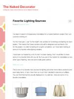 Favorite Lighting Sources