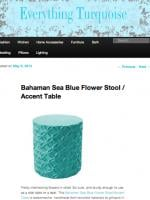 Bahaman Sea Blue Flower Stool